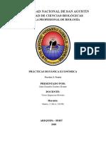 Botanica economica. Practica 3.  Frutos  - Universidad Nacional de San Agustin