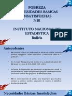 Necesidades Básicas Insatisfechas en Bolivia, según el CENSO de 2012