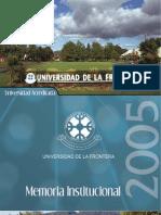 Memoria UFRO 2005