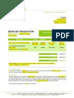 Modèle de devis (FR)
