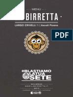 menu La Birretta Ascoli di Giugno