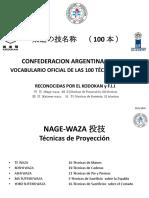 VOCABULARIO OFICIAL C.A.J. II°  LAS 100 TÉCNICAS