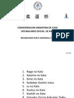 VOCABULARIO OFICIAL C.A.J. III° KATA