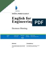 Modul English for Engineering II