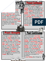 Key Ghost Story in Present and Past Tenses Classroom Posters Grammar Guides Oneonone Activiti 74444
