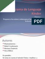 Programa de Lenguaje Kinder