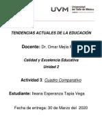 calidad y excelencia educativa