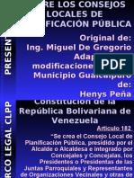 Presentación de diapositiva Consejo Local de Planificación Publica