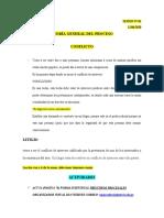 TEORÍA GENERAL DEL PROCESO, SESIONES DE CLASES