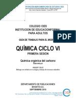 QUIMICA CICLO VI SESIÓN 1