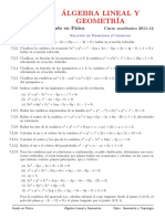 Problemas (temas 7) Cuádricas