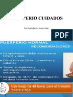 PUERPERIO CUIDADOS
