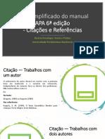 Guia simplificado do manual APA 6ª edição - citações e referências