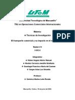 Transporte Internacional Equipo #4 Ensayo