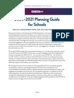 Minnesota Fall School Planning Guide - Minnesota Department of Health