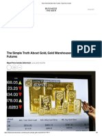 How Gold Actually Gets Traded