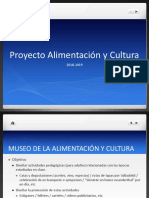 Instrucciones para el Proyecto de Alimentación y cultura