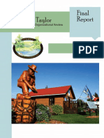 District of Taylor - Core Services Organizational Review Final Report