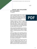 Wolff Francis - L'universel, seule voie possible del'émancipation _ AOC media - Analyse Opinion Critique