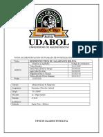 TIPOS DE SALARIOS en bolivia