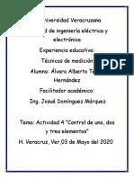 Actividad 4 Control de 1,2 y 3 elementos