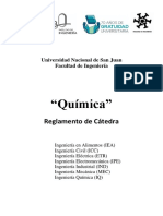 Reglamento catedra quimica 2019