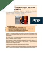 YPF asegura que ya ha bajado precios del gasóleo en Argentina