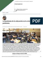 La pandemia de la educación en la crisis de la pandemia - El Mostrador