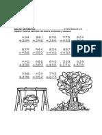 Guia Matematica  3° año basico A y B