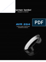 AVR 254 Owners Manual