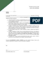 Carta compromiso de seminario