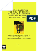 Basel Convention Technical Guidelines on Used Oil Re-Refining or Other Re-Uses of Previously Used Oil