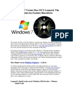 Windows 7 Versus Mac OS X Leopard