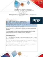 Activity guide and evaluation rubric - Unit 1 - Task 2 - Writing production