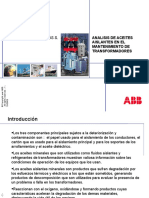 Analisis de Aceites en mantenimiento de los tranformadores..pdf