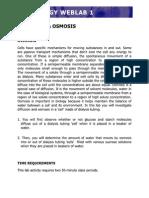 Osmosis Diffusion