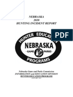 2010 Nebraska Hunting Incident Report