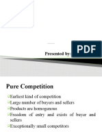 Pure Competition vs Oligopolistic Competition.