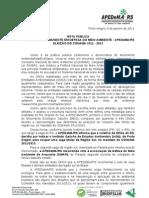 Nota Apedema-rs Eleicao Conama 2011 2013