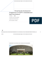 QUIZ for Virtual Faculty Development Programme on _EC8791- Embedded and Real Time Systems_