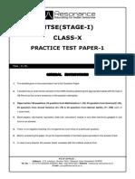 [PDF] NTSE stage-1 Mock Test 1_compress