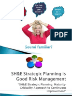 SHE Strategic Planning is Good Risk Management