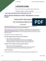 401(k) Plan Fee Disclosures in 2011