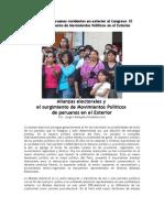 Candidatos Peruanos Residentes en Exterior Al Congreso