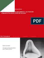 La fotografía como documentos y su función comunicativa en el arte de acción