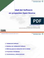 Calidad Del Software en Proyectos Open Source