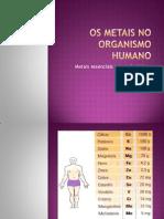 Os Metais No Organismo Humano Filipa
