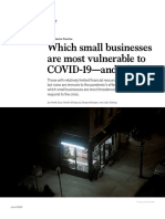 Which Small Businesses Are Most Vulnerable to COVID 19 and When