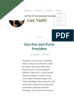 Gus Dur dan Kursi Presiden _ Gus Nadirsyah Hosen.pdf