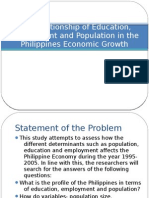 The Relationship of Education, Employment and Population